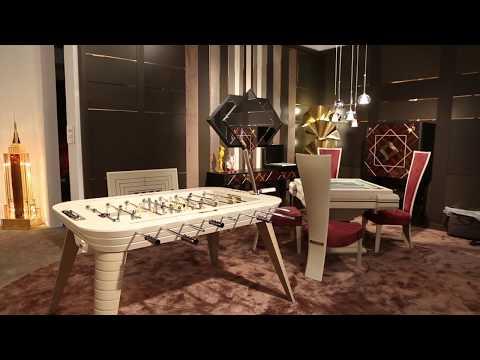 Salone del Mobile 2018 | Vismara Design italian furniture for luxury home theater and game room.