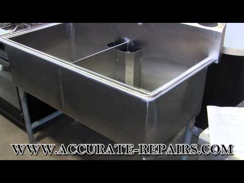 2 Well Stainless Steel Sink - Used