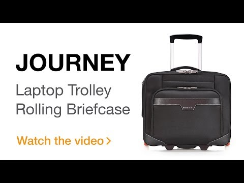 EVERKI Journey Laptop Trolley – Rolling Briefcase, 11-Inch to 16-Inch Adaptable Compartment (EKB440)