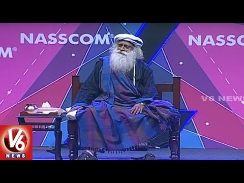Sadhguru Jaggi Vasudev Speech At IT World Congress In HICC | Hyderabad | V6 News