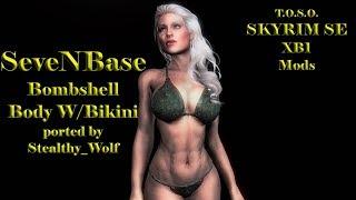 Skyrim Mods XB1 BBP SeveNBase 7Base Sexy Body Bikini Babe by Stealthy Wolf TOSO