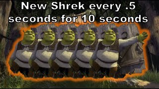 New Shrek every .5 seconds for 10 seconds... Wtf have I made