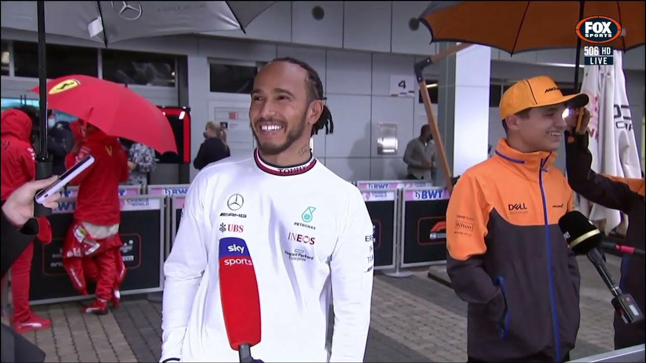 Hamilton and Norris laugh at strategy: 'I was ignoring him the whole time!'