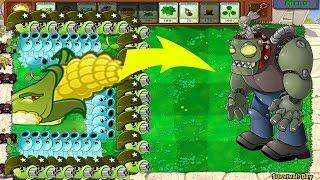 Plants vs Zombies Hack - 9 Cob Cannon vs DR. ZOMBOSS