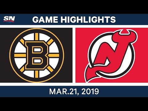 NHL Game Highlights | Bruins vs. Devils - March 21, 2019