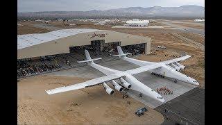 Видео первого полета самого большого в мире самолета. Самолет Stratolaunch.