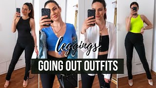 GOING OUT OUTFITS For Summer With Zara Ottoman Leggings | How To Style Leggings