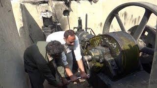 Starting the Diesel Engine Best Sounding Engine 22 Hp 300 RPM Old Black Engine in Punjab