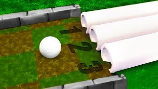 ONE OF THESE PIPES GETS YOU A HOLE IN 1! (Golf It)
