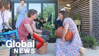 Coronavirus: Duchess Kate Middleton Plants Garden During Childrens Hospice Visit