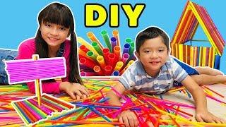 บรีแอนน่า | จินตนาการจากหลอดดูด ศิลปะสำหรับเด็กเจ๋งๆ | DIY By บรีแอนน่าและครอบครัว