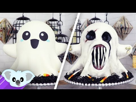 2 Faced Ghost Cake | Scary Halloween Ideas
