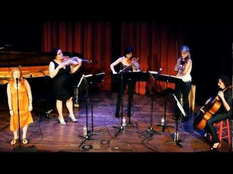 "Quartet Rouge w/ Kristi Martel performing ""The Way I Am"" by Ingrid Michaelson at Yoshi's"