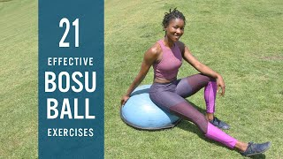 21 Effective BOSU Ball Exercises