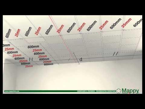 MAPPY ITALIA: CORREZIONE RIVERBERO parete+nastro adesivo-RIVERBERATION CORRECTION ceiling+tear type