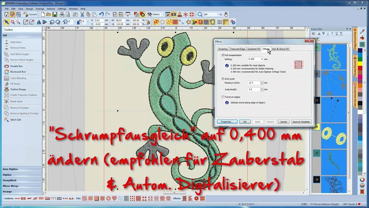 BERNINA Sticksoftware 7 Tutorial 10/12 - Erstellen eines eigenen Stickmotivs