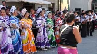 Dance Mexican and Ukrainian