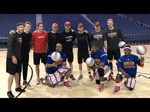 Shooting Hoops with the Calgary Flames!