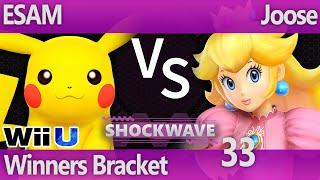 SW 33 Wii U - ESAM (Pikachu) vs Joose (Peach, Pikachu) - Winners Bracket
