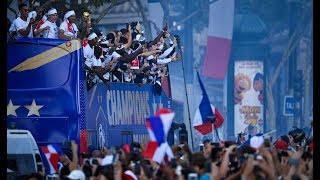 France celebrate their heroes' return