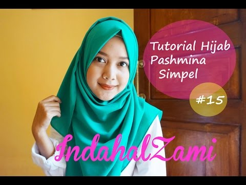 Video Tutorial Hijab Pashmina Simple (Pashmina Diamond Italiano #15 - indahalzami