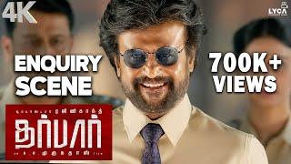 DARBAR (Tamil) - Enquiry Scene | Rajinikanth | Nayanthara | AR Murugadoss | 4K (Eng Subs)