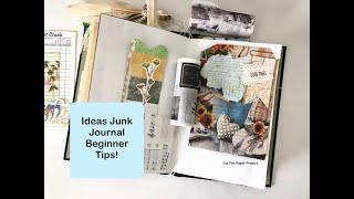 Ideas Junk Journal - Beginner Ideas / Inspiration - Page Embellishments