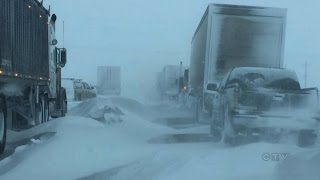 Winter blast: Blizzard causing chaos on Manitoba highways