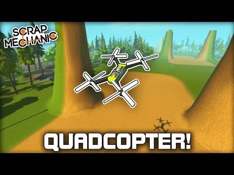 fpv-racing-drone-quadcopter-scrap-mechanic-gameplay