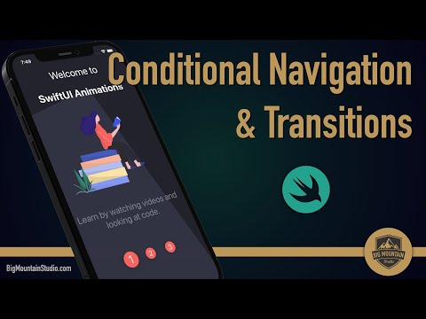 Onboarding - SwiftUI Conditional Navigation and Transition Animation thumbnail