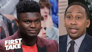Stephen A. gives Zion a chance to win Rookie of the Year over Ja Morant | First Take