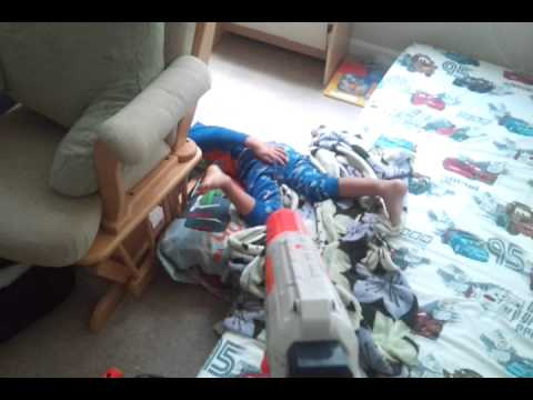 Shooting Your Sleeping Kid With A Super Soaker While Singing The Doom Theme Song Is A Really Effective Alarm Clock