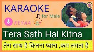 Tera Saath Hai Kitna Pyara | Karaoke for Male   - YouTube