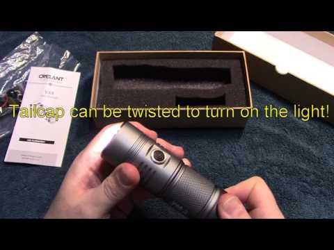 Crelant V4A flashlight review!