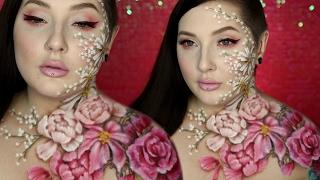 Valentine's Day Flower Body Paint & Makeup Tutorial w/ Alex Faction