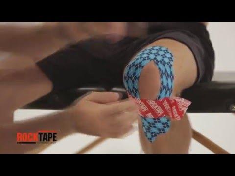 RockTape - Тейпирование колена (Y-образный способ)