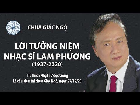 TT. Thích Nhật Từ đọc lời tưởng niệm trong Lễ cầu siêu NS. Lam Phương