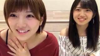 170828Showroom岡田奈々-AKB48Team4OkadaNana&MurayamaYuiri14:29村山彩希とカラオケ