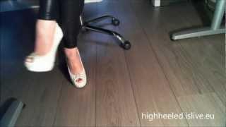 6Inch Stiletto Peeptoe Heel with Studs