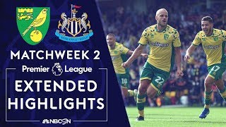 Norwich v. Newcastle   PREMIER LEAGUE HIGHLIGHTS   8/17/19   NBC Sports