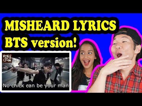 BTS TRY NOT TO LAUGH Misheard Lyrics REACTION!!!