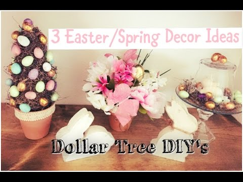 Dollar Tree Easter/Spring Decor Ideas | Topiary, Cloches,Centerpiece | Momma From Scratch