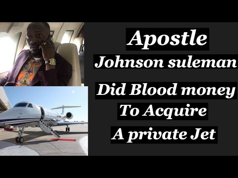 Shocking news:Apostle Johnson suleman Secret to his newly  acquired private jet