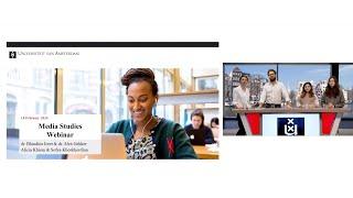 Webinar   What are Media Studies?   University of Amsterdam
