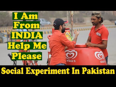 I Am From India | Indian Guy Asking Help From Pakistani People | Social Experiment In Pakistan |