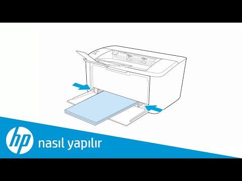 HP LaserJet veya LaserJet Pro Yazıcılara Kağıt Yükleme