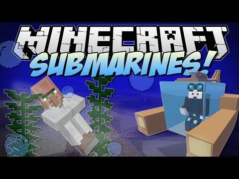 Minecraft | SUBMARINES! (Underwater Villages, Atlantis Tools & More!) | Mod Showcase