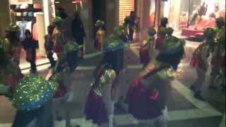 preview picture of video 'Exceptional choreography during 'Arrivo', Carnival of Vilanova i la Geltrú, 2013'