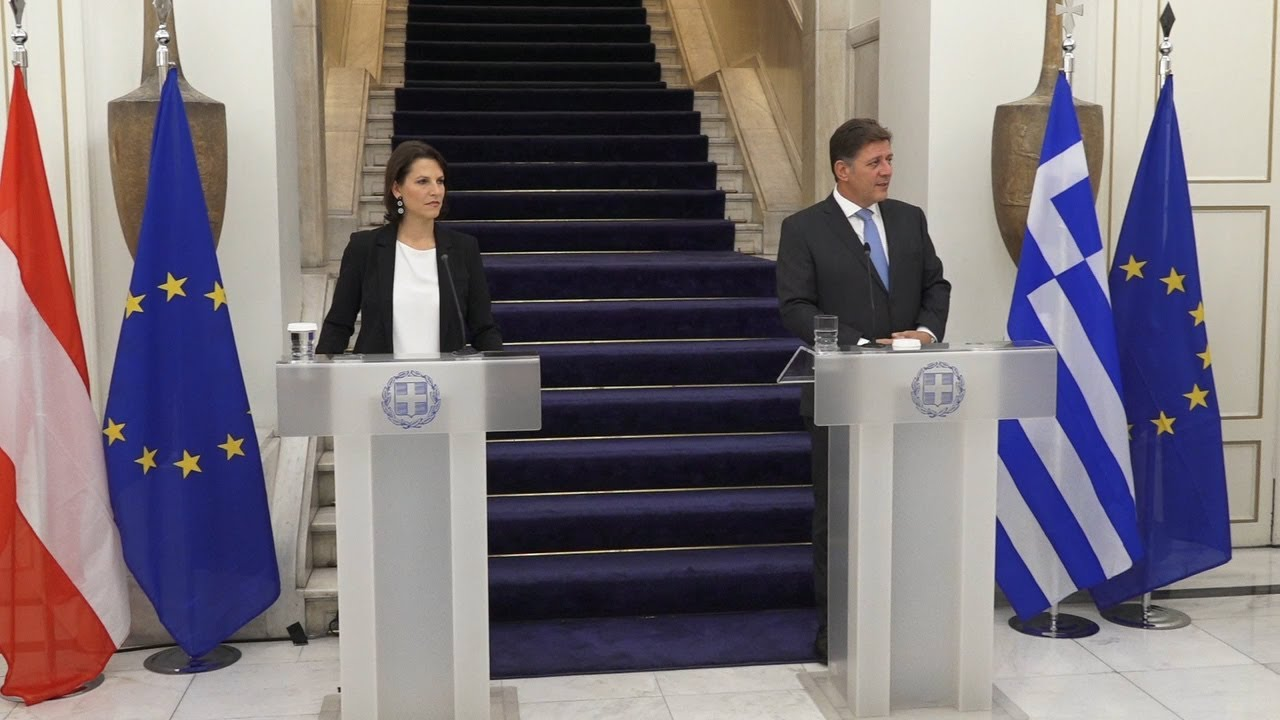 Συνάντηση της  υπουργού Ευρωπαϊκών Υποθέσεων  της Αυστρίας, με τον αναπληρωτή υπουργό Εξωτερικών