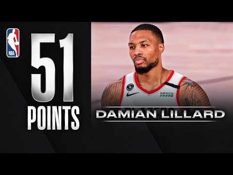 51 points for Damian Lillard who never gives up